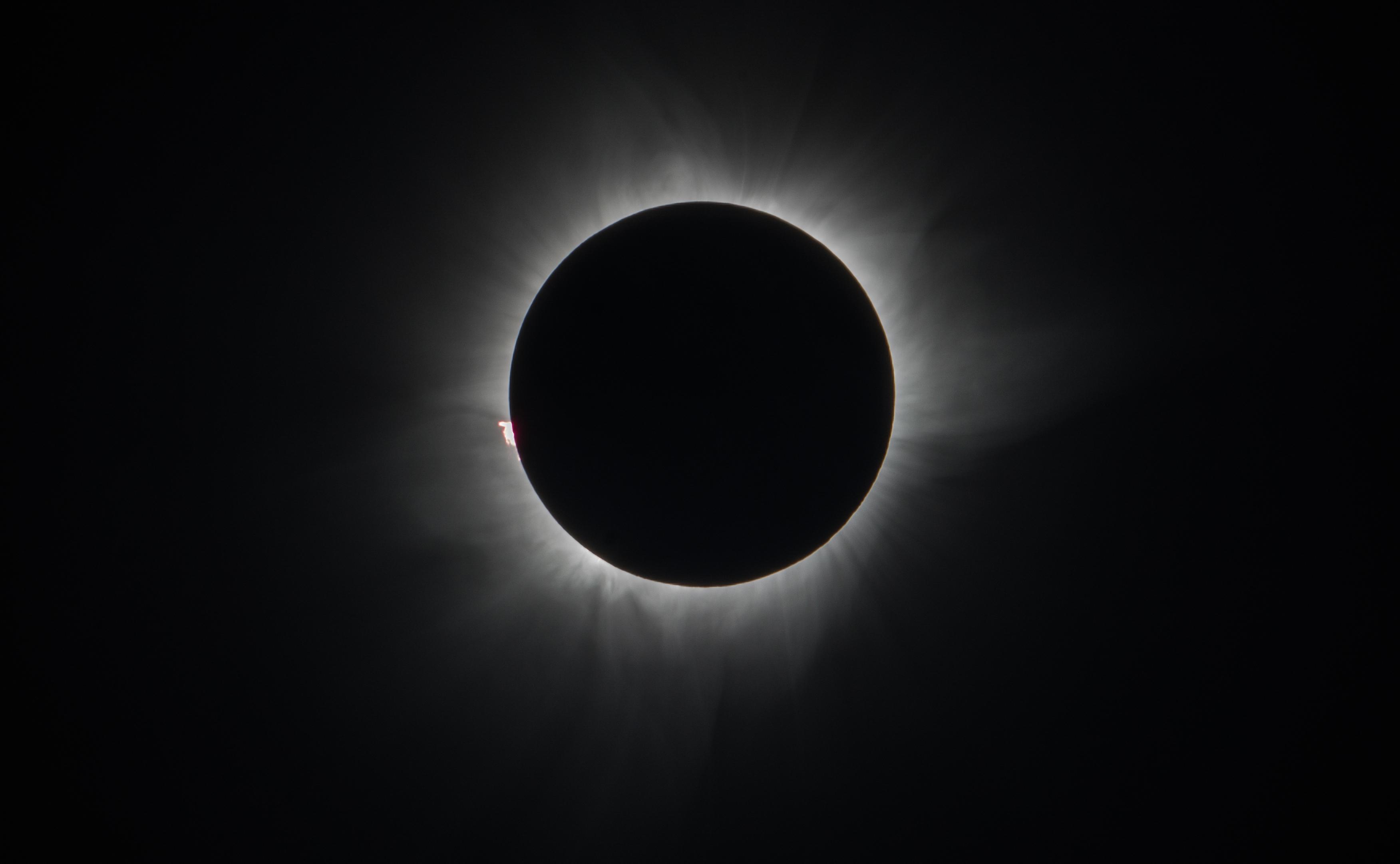 Eclipse solaire. Crédit H. Deloison 2016