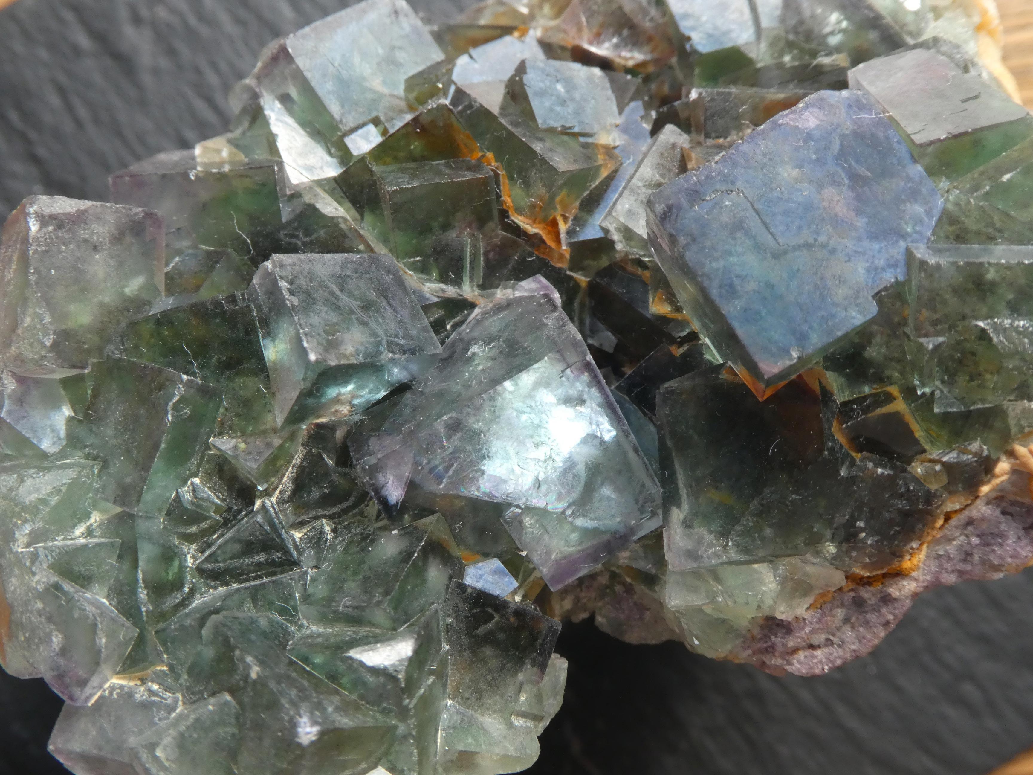 Minéral Cristaux de Fluorine,Otavi,Namibie