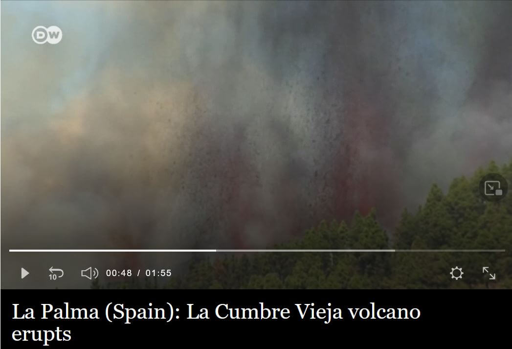 volcan la palma, canaries, éruption 2021